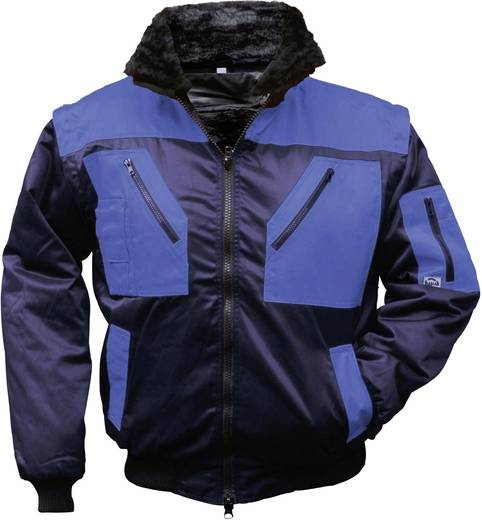 Griffy 4209 4-in-1 Multifunktions-Pilotjacke mit Warneffekt Dunkel-Blau, Royal-Blau M