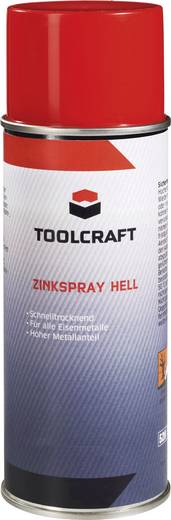 Zinkspray hell TOOLCRAFT 88 75 57 400 ml