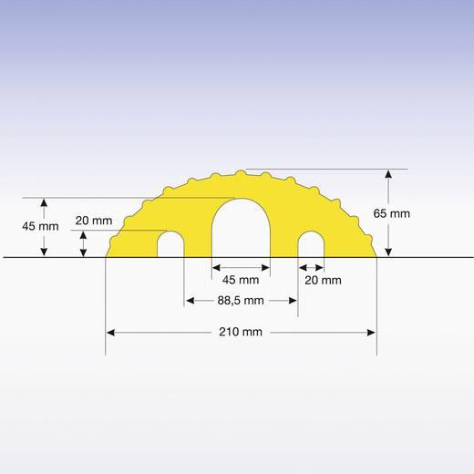 Kabelbrücke Gummi Schwarz Anzahl Kanäle: 3 1200 mm Moravia Inhalt: 1 St.