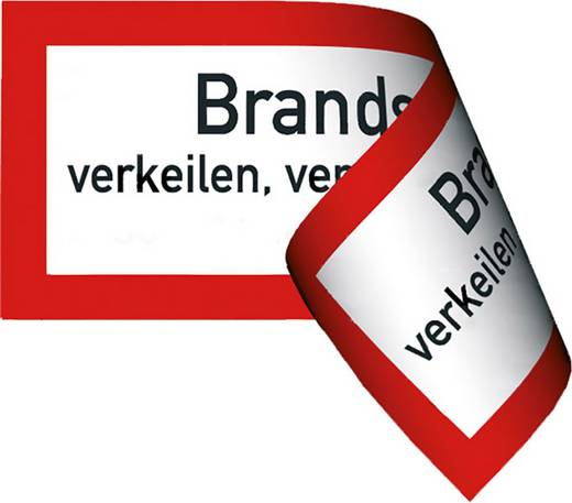 Brandschutztür verkeilen, verstellen, festbinden o. ä. verboten 478F (B x H) 297 mm x 105 mm