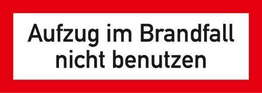 Brandschutzschild (B x H) 297 mm x 105 mm 1 St.