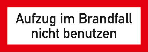 Brandschutzschild (B x H) 148 mm x 52 mm 1 St.