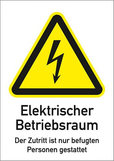 Elektrischer Betriebsraum... 5880K297 (B x H) 210 mm x 297 mm