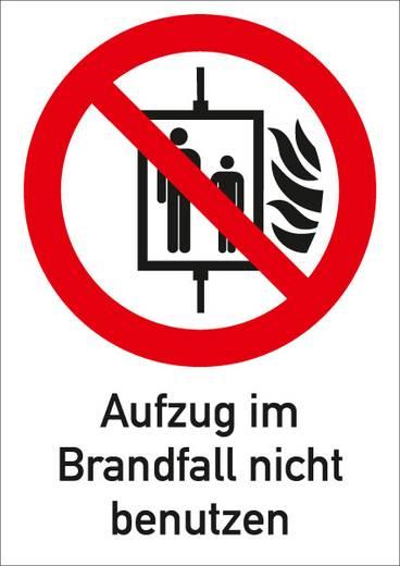 Kombischild Aufzug im Brandfall nicht benutzen 6058F185 (B x H) 131 mm x 185 mm