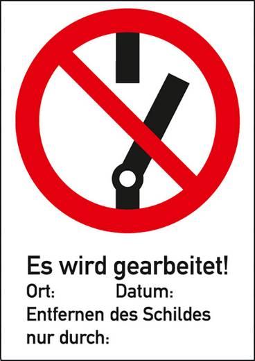 Schalten verboten! Es wird gearbeitet! mit Symbol 658K (B x H) 210 mm x 297 mm