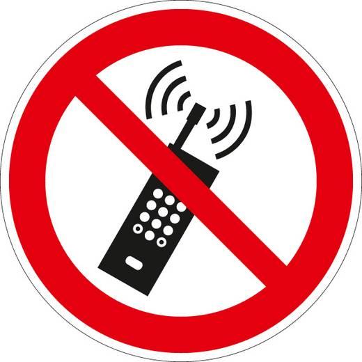 Eingeschaltete Mobiltelefone verboten 664F10 (Ø) 100 mm