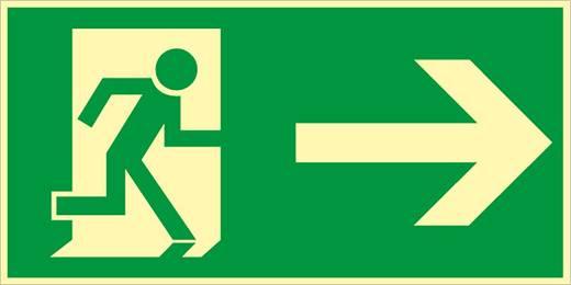 Rettungsweg rechts nach ASR 9007FHL20R (B x H) 400 mm x 200 mm