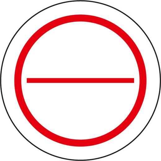 Stromkreis-Bezeichnungsschilder zum Selbstbeschriften 2 geteilt 579 (Ø) 39 mm