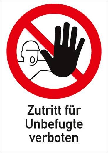 Zutritt für Unbefugte verboten mit Symbol 661F (B x H) 210 mm x 297 mm