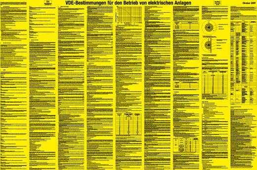 VDE-Bestimmungen für den Betrieb von elektrischen Anlagen 897K (B x H) 1000 mm x 660 mm
