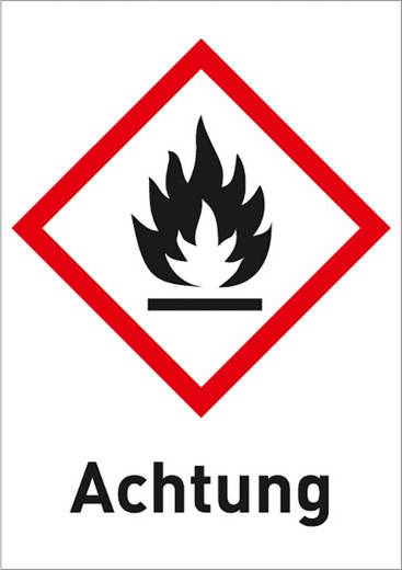 Gefahrstoffetikett Hochentzündlich (GHS 02) mit Text: Achtung 3003R37 (B x H) 26 mm x 37 mm