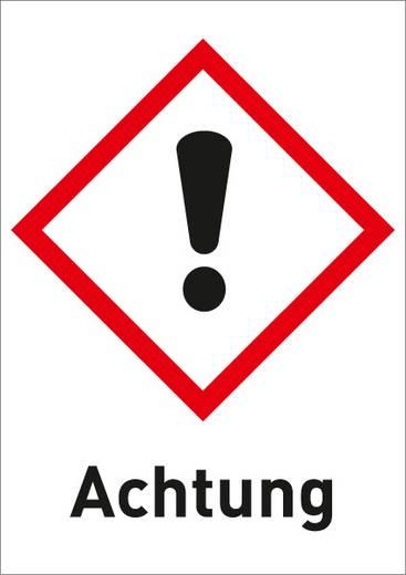Gefahrstoffetikett Reizend (GHS 07) mit Text: Achtung Folie selbstklebend 3012R37