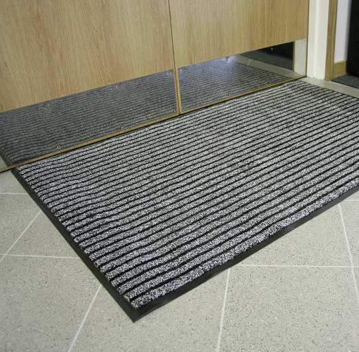 COBA Europe Eingangsmatte DUO - 0,9 x 1,5 m Schwarz, Grau LxBxH (1500 mm x 900 mm x 9 mm)