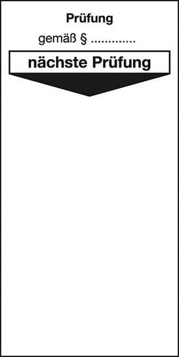 Grundplakette Prüfung gemäß § nächste Prüfung 201D (L x B x H) 80 x 40 x 80 mm
