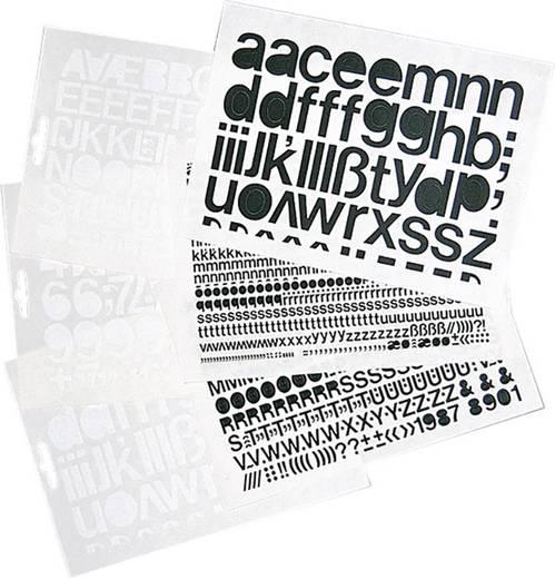 Selbstklebende Großbuchstaben schwarz Folie selbstklebend schwarz 1391GS20