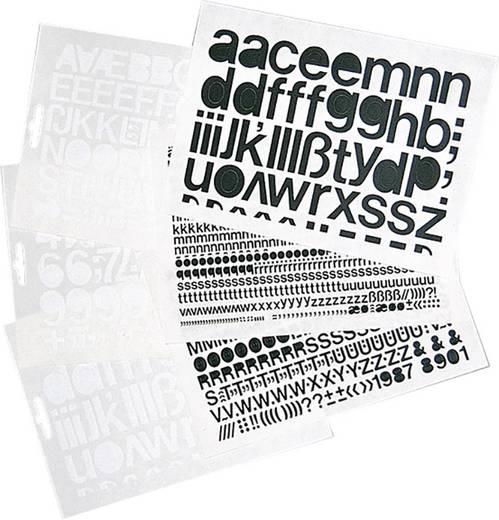 Selbstklebende Kleinbuchstaben schwarz Folie selbstklebend schwarz 1391KS20