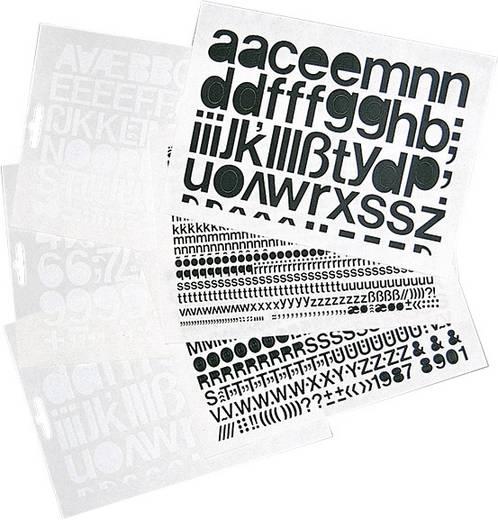 Selbstklebende Ziffern schwarz Folie selbstklebend 1391ZS25