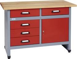 Etabli 1 porte 5 tiroirs rouge Küpper 12042 (l x h x p) 1200 x 840 x 600 mm