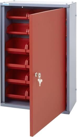 Küpper 70312 Hängeschrank 40 cm mit 18 Sichtboxen rot (B x H x T) 40 x 60 x 19 cm
