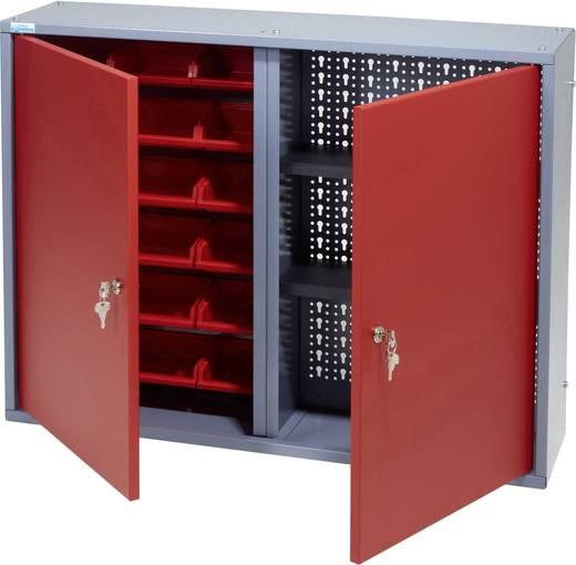 Küpper 70322 Hängeschrank 80 cm, 2 Türen, 18 Sichtboxen rot (B x H x T) 80 x 60 x 19 cm