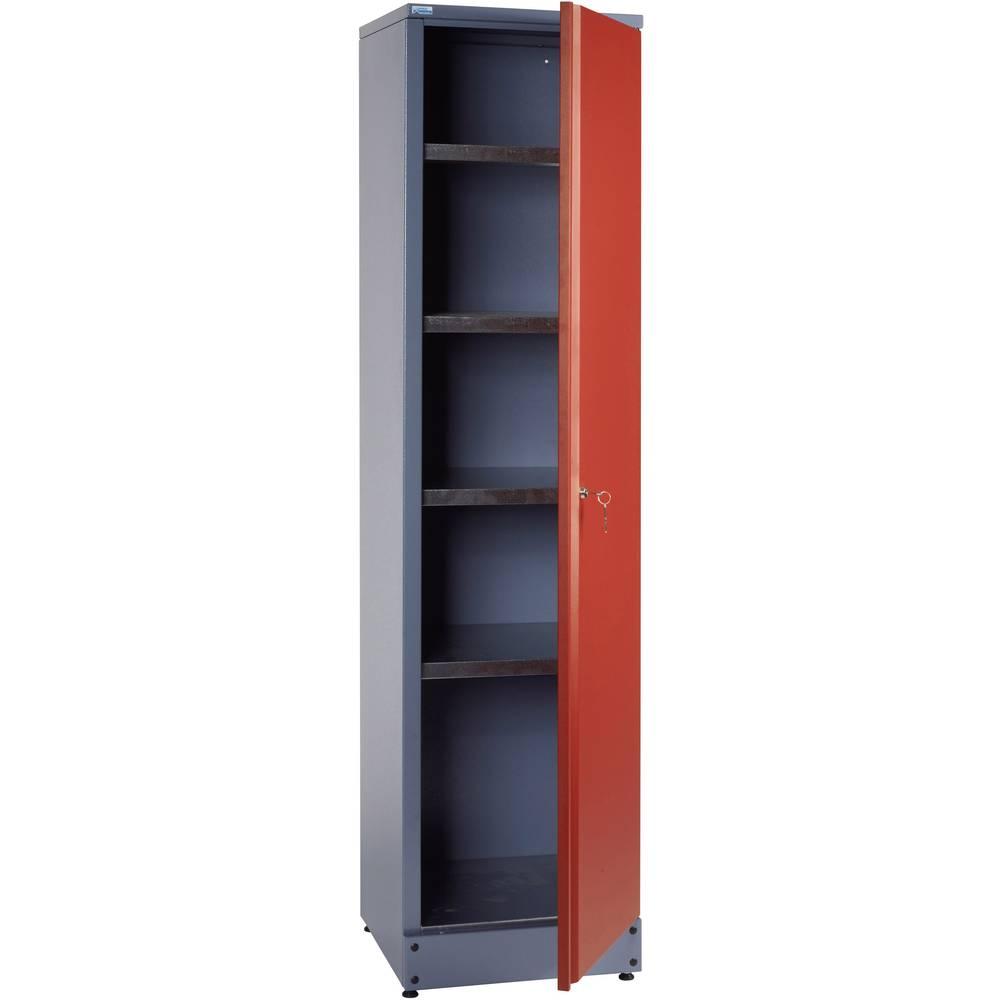 armoire 1 porte et 4 tag res rouge k pper 70392. Black Bedroom Furniture Sets. Home Design Ideas