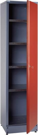Küpper 70392 Hochschrank mit 1 verschließbaren Tür rot (B x H x T) 455 x 1800 x 450 mm