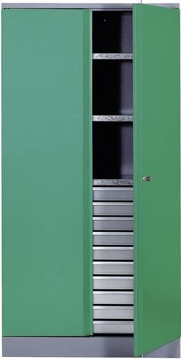 Materialschrank mit 1 verschließbaren Doppeltür grün