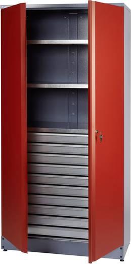 Küpper 70592 Materialschrank mit 1 verschließbaren Doppeltür rot (B x H x T) 910 x 1800 x 450 mm