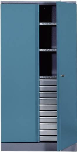 Materialschrank mit 1 verschließbaren Doppeltür hammerschlagblau