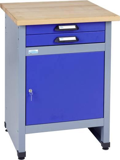 Küpper 12297 Beistelltisch mit 1 Tür und 2 Schubladen ultramarinblau (B x H x T) 600 x 840 x 600 mm