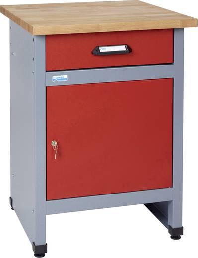 Küpper 12392 Beistelltisch mit 1 Tür und 1 Schublade rot (B x H x T) 600 x 800 x 600 mm