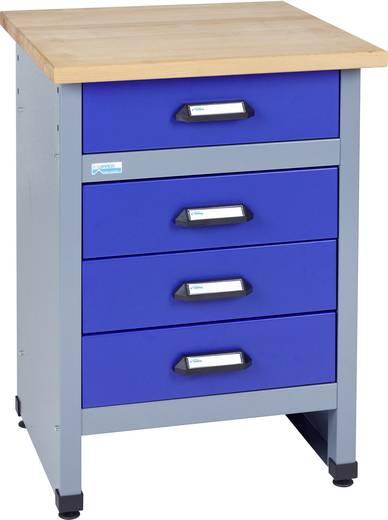 Küpper 12497 Beistelltisch mit 4 Schubladen ultramarinblau (B x H x T) 600 x 800 x 600 mm