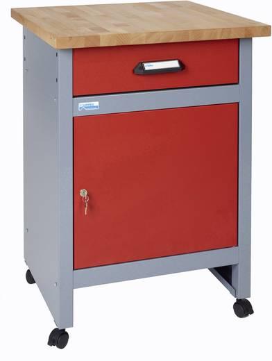 Küpper 12192 Beistelltisch mit Rollen rot (B x H x T) 600 x 840 x 600 mm
