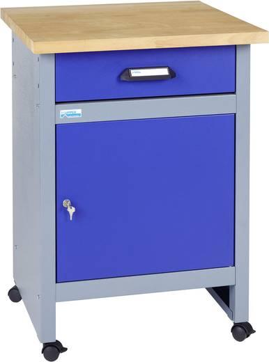 Küpper 12197 Beistelltisch mit Rollen ultramarinblau (B x H x T) 600 x 840 x 600 mm