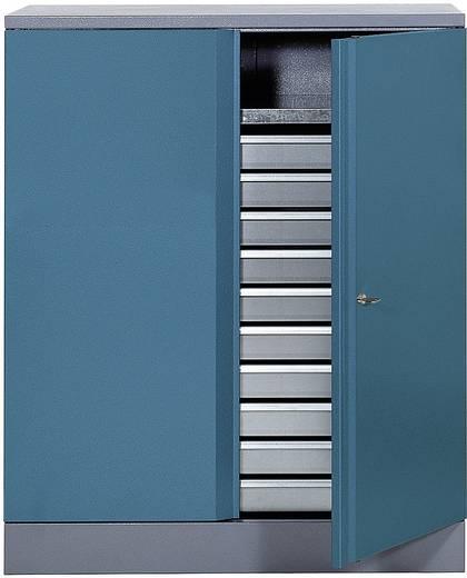 Materialschrank 110 cm hammerschlagblau