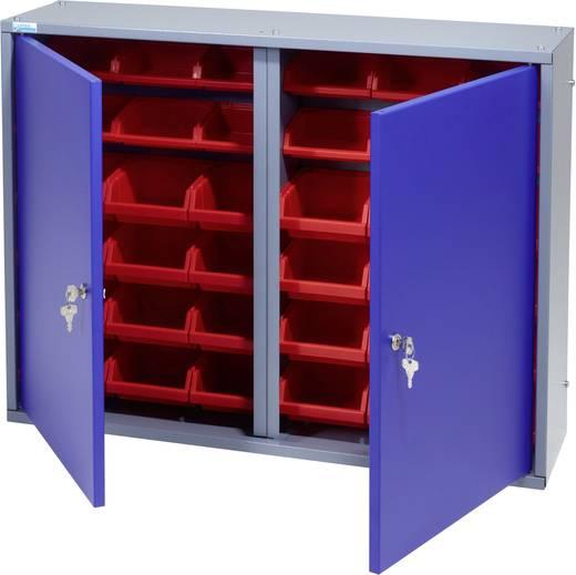 Küpper 70227 Hängeschrank 80cm, 2Türen, 36 Boxen ultramarinblau (B x H x T) 80 x 60 x 19 cm