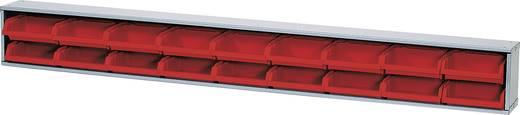 Sichtboxenleiste rote Boxen Rot (B x H x T) 120 x 14 x 10 cm