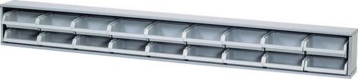 Sichtboxenleiste graue Boxen Grau (B x H x T) 120 x 14 x 10 cm