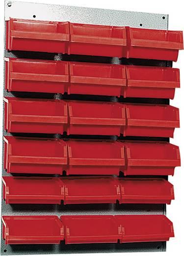 Küpper 13072 Stahlblech-Schlitzpaneele 1 tlg. rote Boxen (L x B) 60 cm x 40 cm