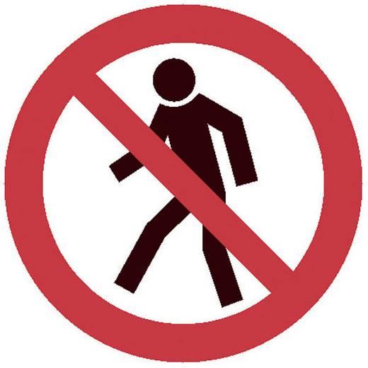 Warnaufsteller Fußgänger verboten (B x H x T) 275 x 600 x 270 mm Moravia MORION 345.20.363 1 St.