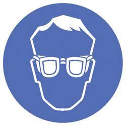 Panneau d'avertissement : portez une protection pour les yeux Moravia 345.24.247 Matière plastique