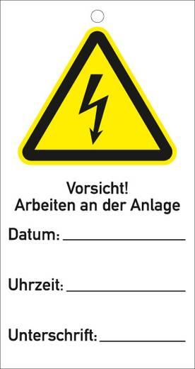 Sicherheitsanhänger Vorsicht! Arbeiten an der Anlage 534K (B x H) 76 mm x 147 mm