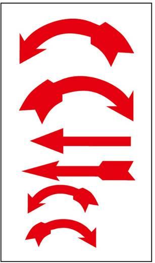 Richtungspfeile rot oder schwarz Folie selbstklebend 1395