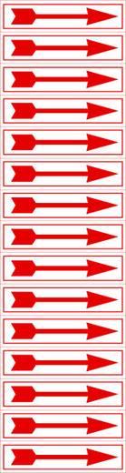 Richtungspfeile rot/weiß Folie selbstklebend 1394