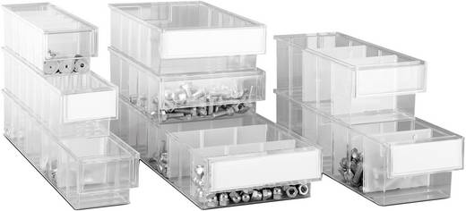 Lagersichtbox (B x H x T) 92 x 82 x 400 mm Transparent 70177 1 St.
