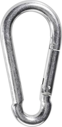 TOOLCRAFT Feuerwehr-Karabinerhaken DIN 5299 (L x B) 80 mm x 8 mm 1 St.
