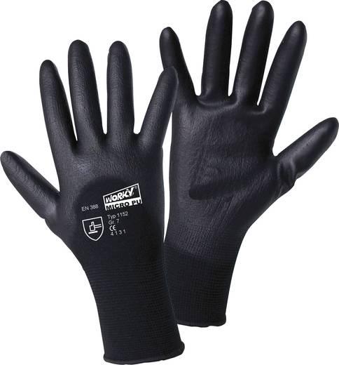 Nylon Arbeitshandschuh Größe (Handschuhe): 8, M EN 388 CAT II L+D worky MICRO black 1152 1 Paar