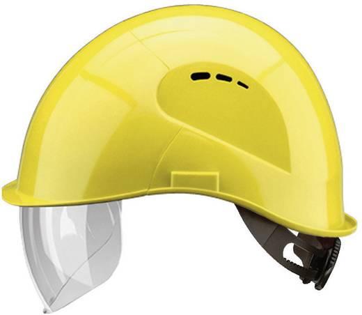 Schutzhelm mit integriertem Visier Gelb Voss Helme 2684 EN 397, EN 166