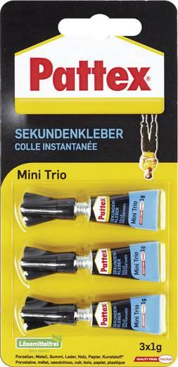 Pattex Mini Trio Flüssig Sekundenkleber PSMT2 3 g