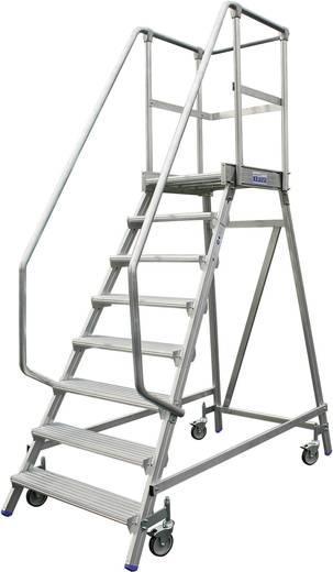 Aluminium Podestleiter fahrbar Arbeitshöhe (max.): 3.65 m Krause 820174 Silber 51.4 kg